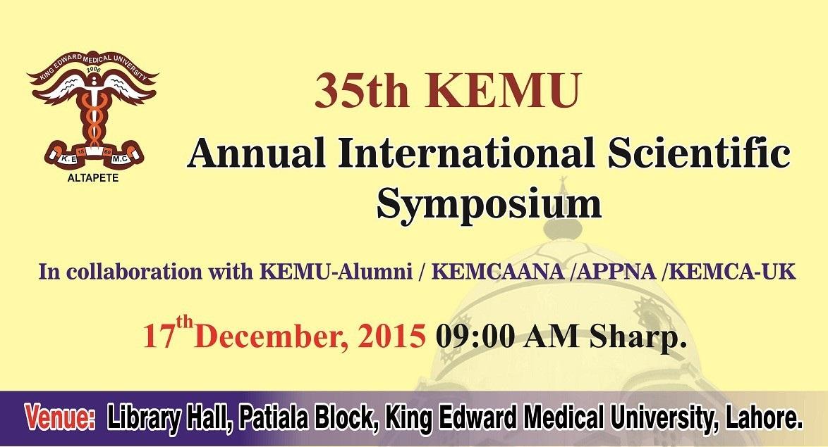 35th Annual International Scientific Symposium